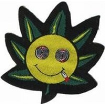 Aufbügler Cannabis Smiley