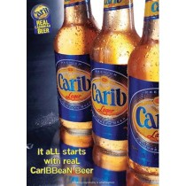 02a. Carib Lager Beer, 330 ml, reduziert April 2019