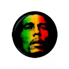 Button Bob Marley Rasta Face