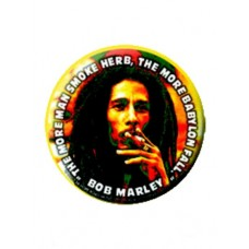 Button Bob Marley The Man Smoke