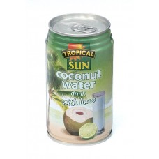 Coconut Water drink with lime, 330 ml