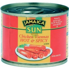 Vienna Sausages Chicken, hot & spicy, Tropical Sun, 200 g